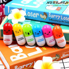 6 Pcs/<b>lot Lovely</b> Kawaii Smiling Face Vitamin Pill Ballpoint <b>Pen</b> Cute ...