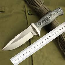 Free shipping <b>Sharp outdoor</b> knife, <b>straight</b> knife blade material AUS ...