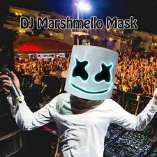 <b>LED</b> Light <b>Marshmello DJ</b> Mask Halloween Cosplay Full Head ...