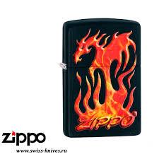 <b>Зажигалка</b> широкая <b>Zippo</b> Classic Flaming <b>Dragon Design</b> Black ...