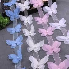 H651 <b>10PCS</b> Butterfly Organza <b>Lace</b> For <b>Dress</b> Ribbon <b>Lace</b> Trim ...
