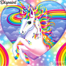 "<b>Dispaint Full Square/Round</b> Drill 5D DIY Diamond Painting ""Unicorn ..."