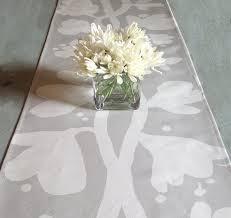 Runner Tavolo Giallo : Moderno di lino grigio runner matrimoni feste docce