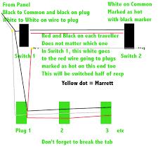 wiring diagram 3 way switch split receptacle wiring split receptacle on three way switch electrical diy chatroom on wiring diagram 3 way switch split