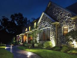 stately home with awesome outdoor beautiful outdoor lighting