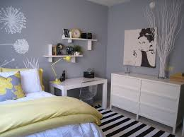 yellow and gray bedroom: bedrooms benjamin moore pigeon gray target dwellstudio peony pillow west elm parsons desk