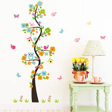 Animal owl butterfly <b>flower tree</b> vinyl <b>wall</b> stickers for kids rooms boys ...