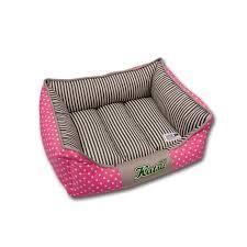 """<b>Лежак для собак Katsu</b> """"Америка"""", цвет: бежевый, розовый, 60 см ..."""