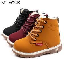 MHYONS <b>child</b> snow <b>boots shoes</b> for <b>girls boys boots</b> fashion soft ...