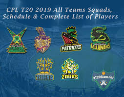 CPL <b>T20</b> 2019 All Teams Squads, Schedule & Complete List of ...