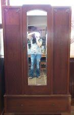 antique english mahogany armoire wardrobe wmirror antique mahogany armoire