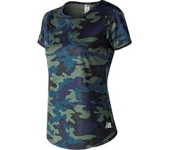 Womens New Balance WT91137 <b>Printed Accelerate Short Sleeve</b> ...