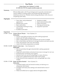 best dishwasher resume example livecareer create my resume