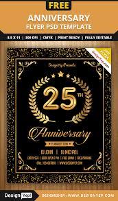 anniversary party flyer psd template designyep anniversary party flyer psd template
