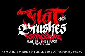 Flat brushes for Procreate app and iPad pro on Behance