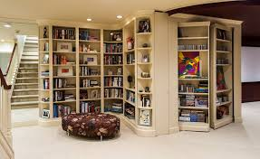 contemporary hidden bookcase door bookcase lighting ideas