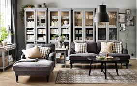 living room sofa ideas:  living room a living room with a grey three seat sofa chaise longue and