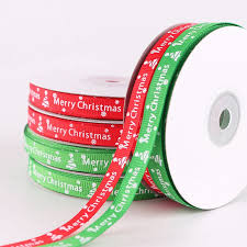 22m/roll <b>1cm Wide</b> Double-sided Ribbon Christmas Ribbon <b>Merry</b> ...