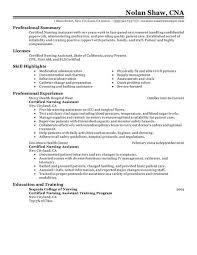 nurse assistant resume  professional resume  medical assistant    sample resume for cna