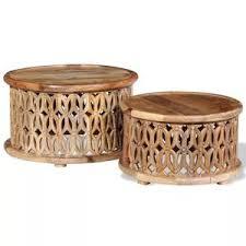 vidaXL <b>Two Piece Coffee Table</b> Set Solid Mango Wood – Stylish ...