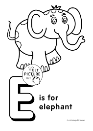 Small Picture Letter E coloring pages of alphabet E letter words for kids