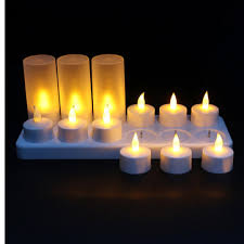12 LED Night <b>Rechargeable Flameless Candle</b> Light For Xmas Party