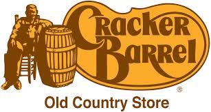 cracker barrel cracker barrel s old logo in use from the mid 1970s until 2017 this logo still appears on most cracker barrel locations roadside interstate