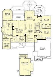 Craftsman House Plan on the Drawing Board          Porches    Single Level House Plan  One Level Craftsman House Plans  Craftsman One Story  Two Story House Plans Main Floor Master  Craftman House Plans