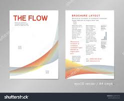 leaflet brochure cover page layout template stock vector  leaflet brochure cover page layout template color blend design geometric soft