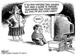 some examples of violence in the media include is media violence damaging to kids