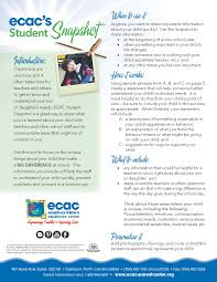 parent teacher conferences ask ecac ecac studentsnapshot2014 1