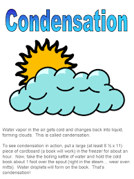 water cycle   gordonton condensation