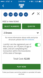 lottery mobile app info screenshot of lottery mobile app ticket purchase