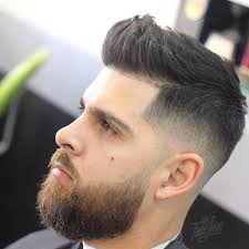 Hair Style Fades mrfineline short quiff hairstyle for men with beard 8884 by wearticles.com