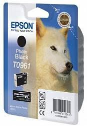 <b>Картридж</b> с черными фото чернилами <b>Epson</b> T0961 ...