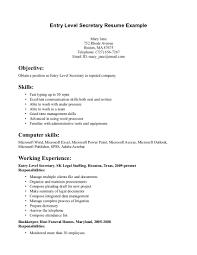 resume example secretarial resume examples general office resume example entry level secretary resume example secretarial resume templates 48 secretarial resume examples