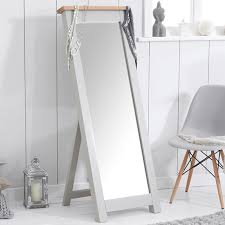 sandringham solid oak painted creamgrey cheval mirror mirror mark harris aston solid oak wall mirror