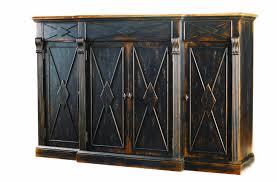 hooker furniture sanctuary 4 door 3 drawer credenza ebony drift 3005 cadenza furniture