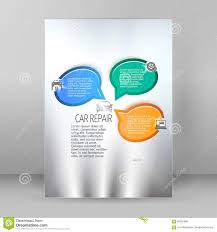 car repair service flyer a4 brochure layout stock illustration car repair service flyer a4 brochure layout