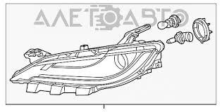 <b>Фара передняя</b> левая Chrysler 200 15-17 галоген + <b>led</b> drl ...