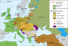 maps that explain world war i com changes to europe after world war i