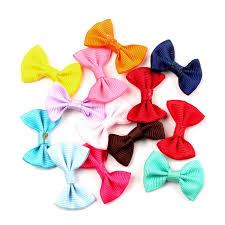 <b>50pcs</b> Mixed Satin <b>Ribbon</b> Bowknot Hair Clips Applique <b>DIY</b> Craft ...
