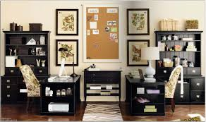 gorgeous ikea interior design idea for home office with black desks white floral chairs and black desk white home office