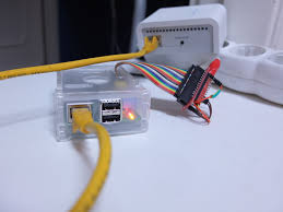 code bathroom wiring: while part of the team got the electrical work done the other members made the kick off on developing the code the raspberry pi detects changes in the