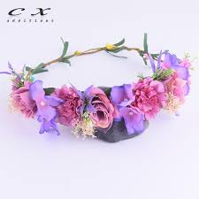 <b>CXADDITIONS Rose</b> Lilac <b>Flower</b> Crown Corona Fleur Bridal ...