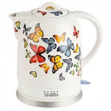 <b>Чайник DELTA DL-1233A</b> белый ''бабочки'' [У] купить в ...