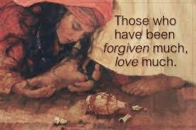 Image result for the one to whom little is forgiven, loves little. pictures