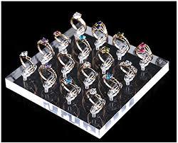 New <b>Velvet</b> 3-Step <b>Rings</b> Riser Jewellery Retail Display <b>Organizer</b> ...