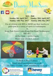 disability multi sports club rowan gate primary school sport4fitness multi sports club flyer