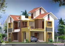 sq feet villa floor plan and elevation   House Design Plans sq ft villa